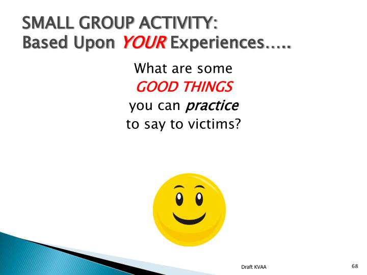 SMALL GROUP ACTIVITY: