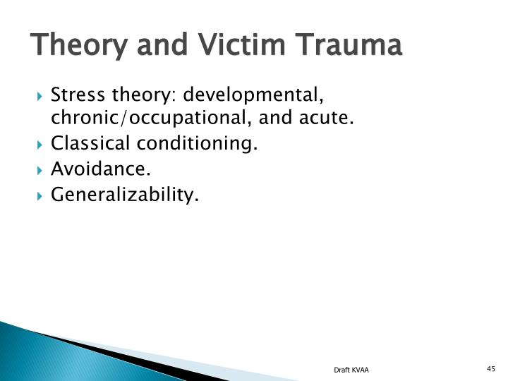 Theory and Victim Trauma