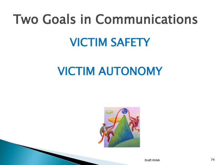 Two Goals in Communications