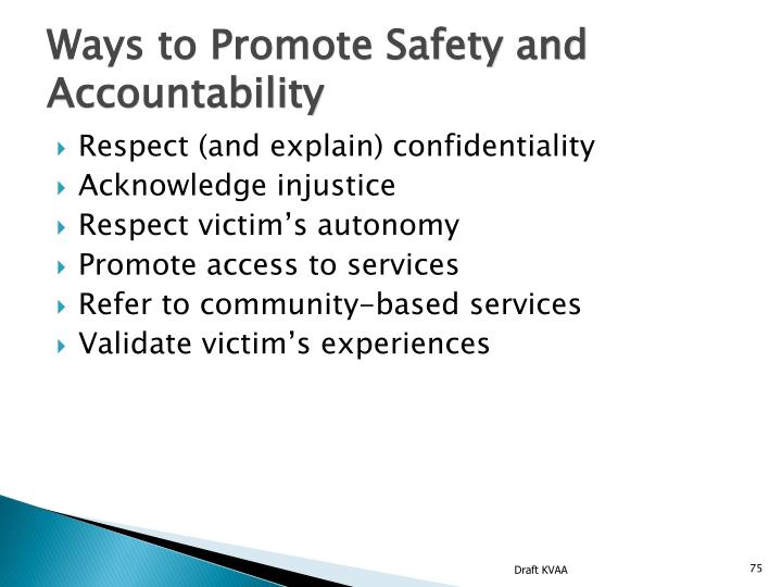 Ways to Promote Safety and Accountability