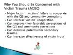 why you should be concerned with victim trauma musc