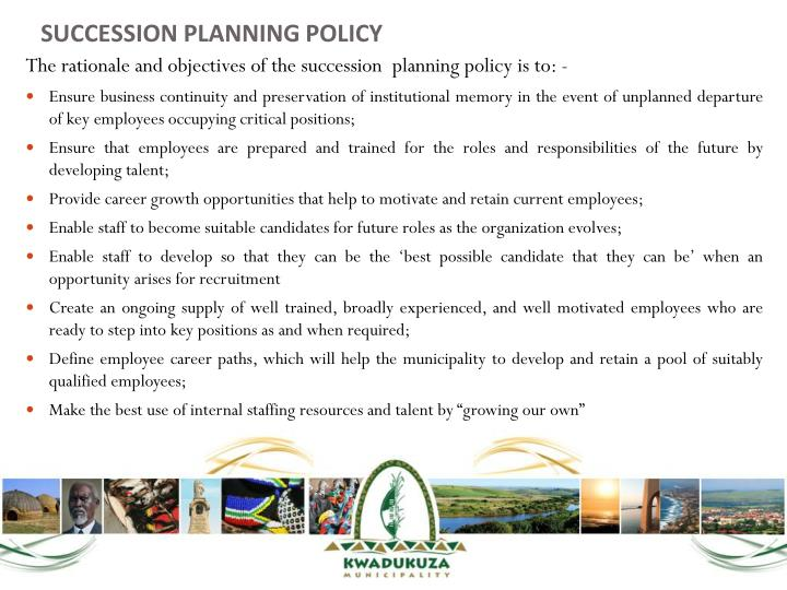 SUCCESSION PLANNING POLICY