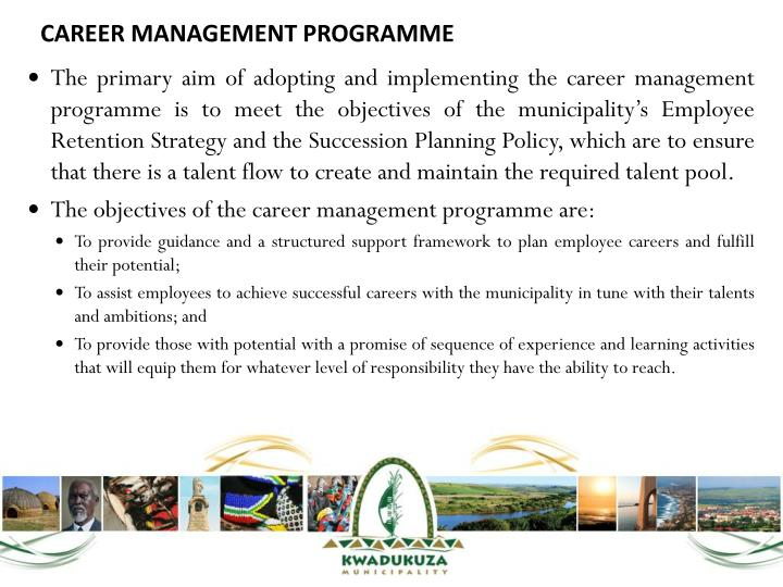 CAREER MANAGEMENT PROGRAMME