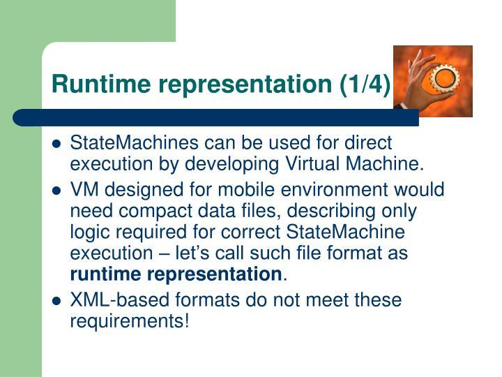 Runtime representation