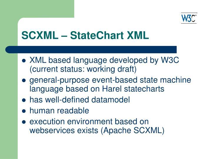 SCXML – StateChart XML