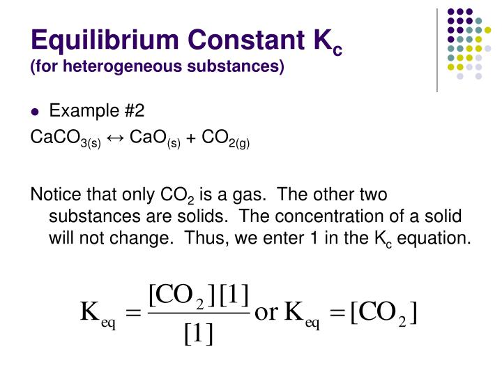 Equilibrium Constant K