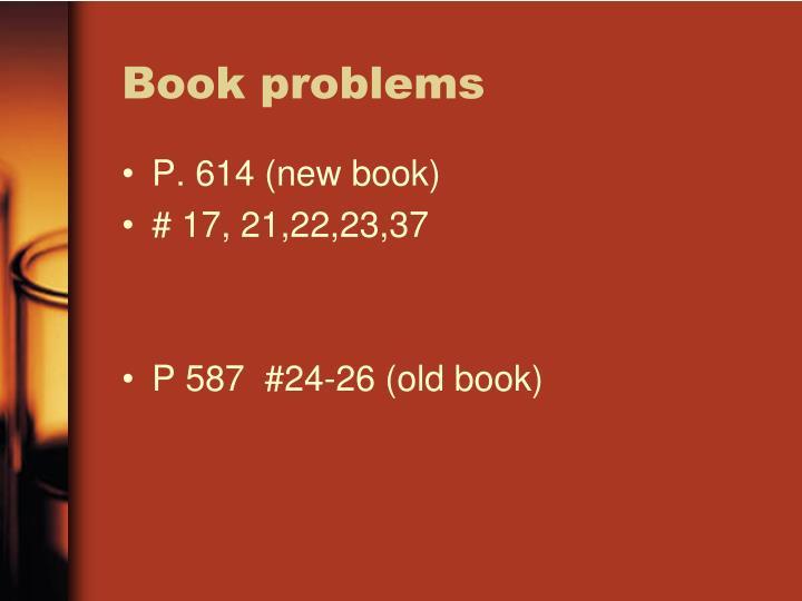 Book problems