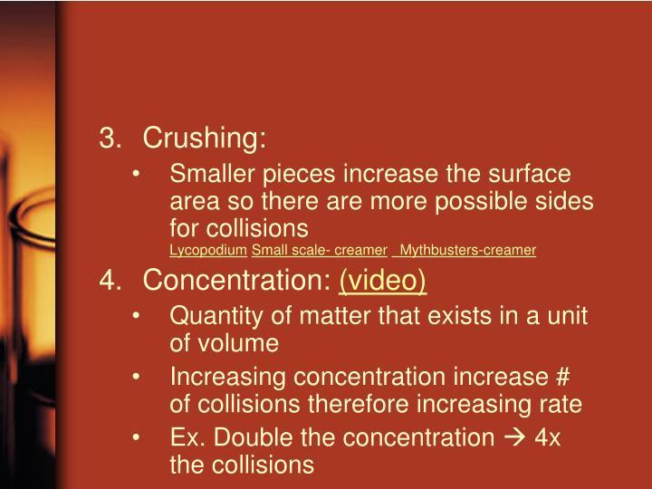 Crushing: