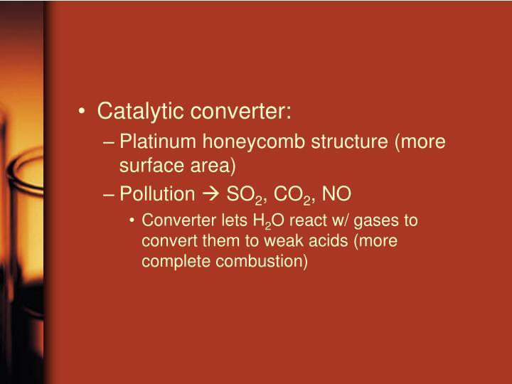 Catalytic converter: