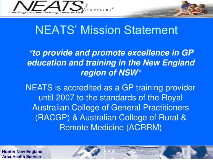 NEATS' Mission Statement