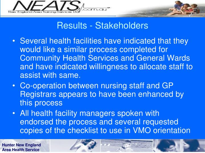 Results - Stakeholders