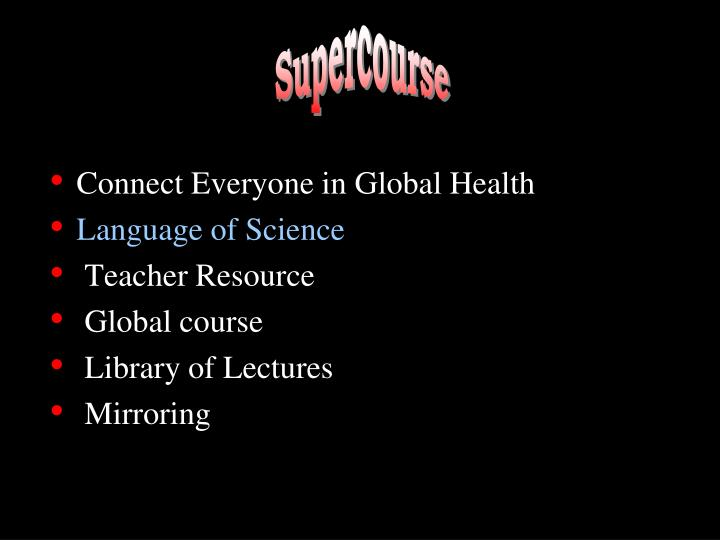 Connect Everyone in Global Health