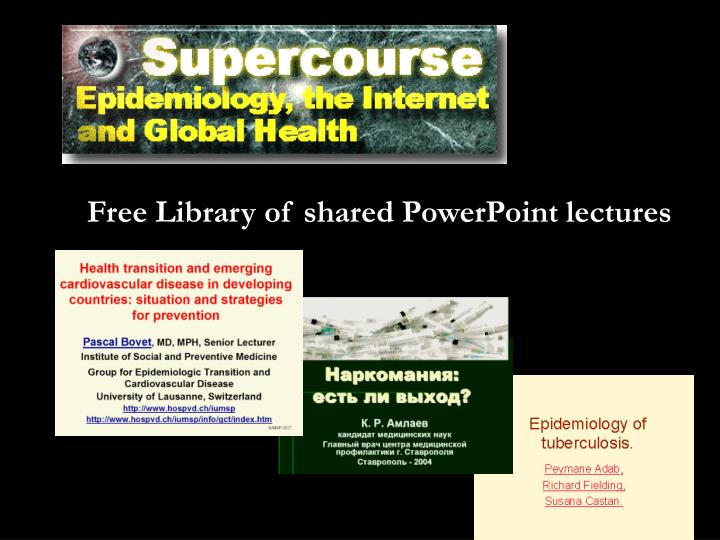 Free Library of shared PowerPoint lectures
