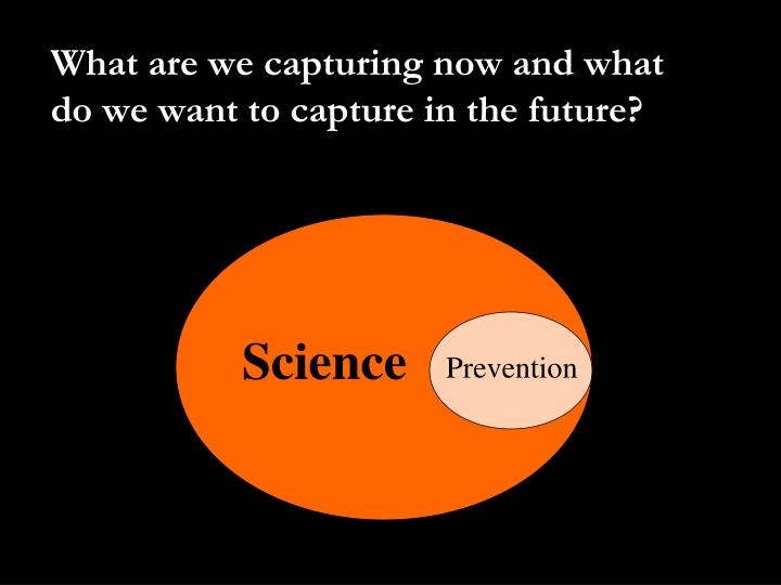 What are we capturing now and what do we want to capture in the future?