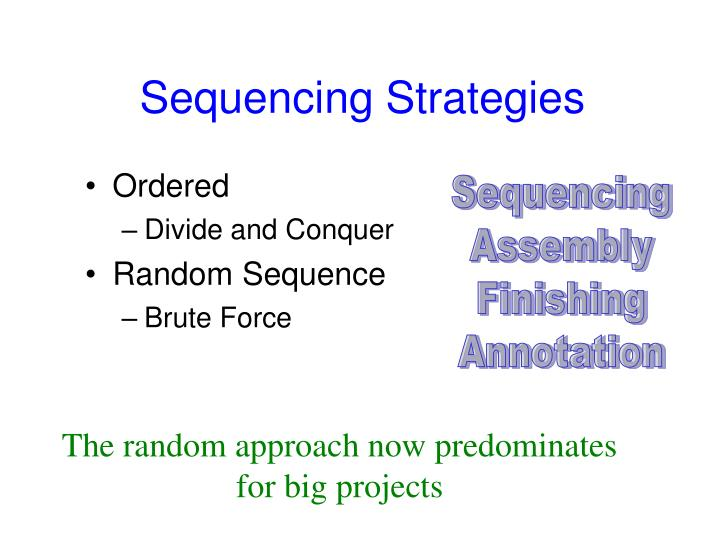 Sequencing Strategies
