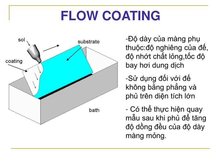 FLOW COATING