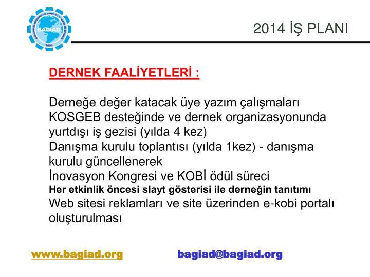 2014 İŞ PLANI