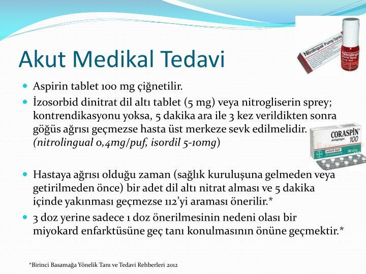 Akut Medikal Tedavi