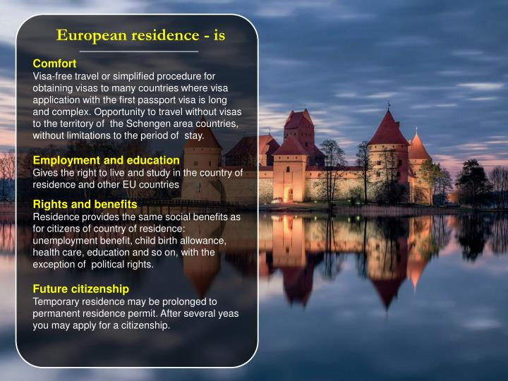 European residence
