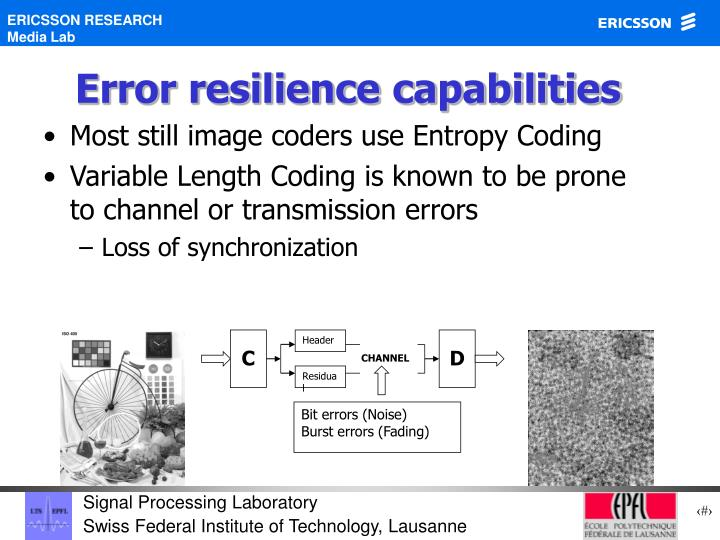 Error resilience capabilities
