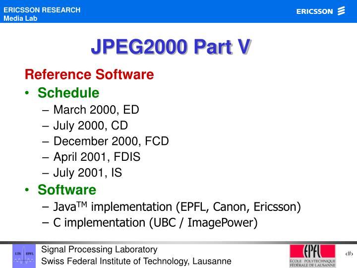 JPEG2000 Part V