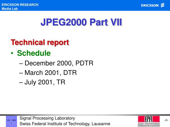 JPEG2000 Part VII