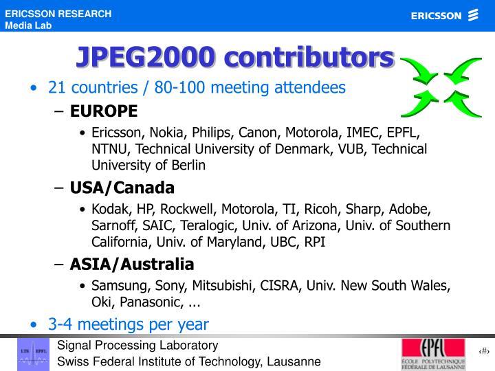 JPEG2000 contributors