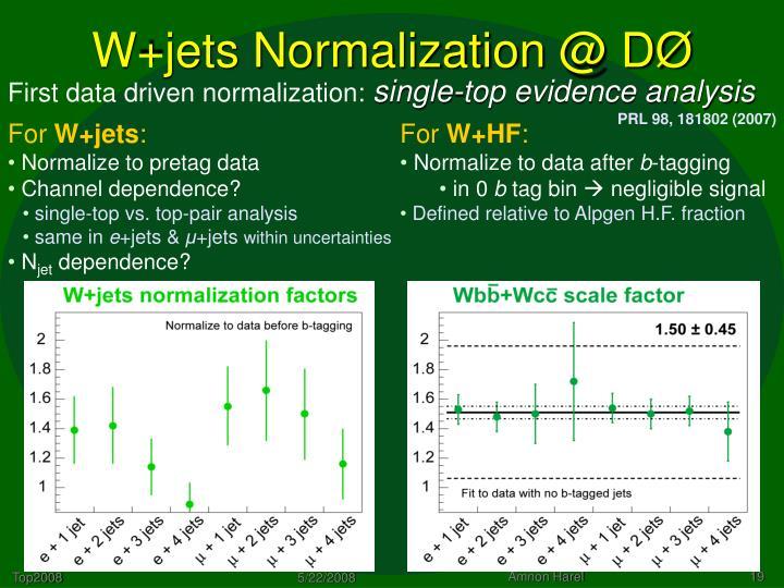 W+jets Normalization @ DØ