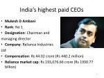 india s highest paid ceos