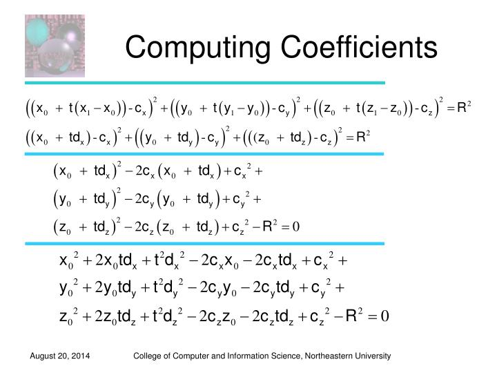 Computing Coefficients