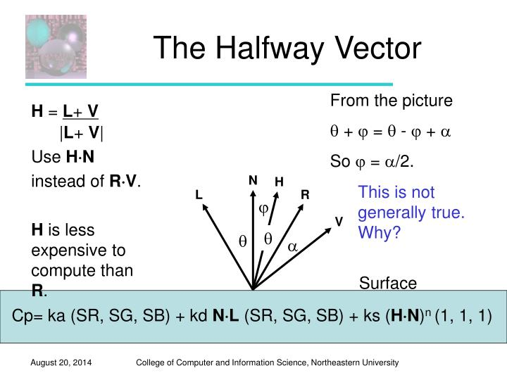 The Halfway Vector