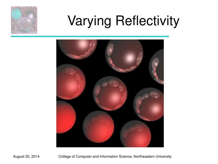 Varying Reflectivity