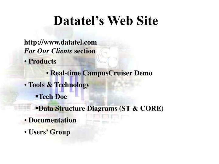 Datatel's Web Site