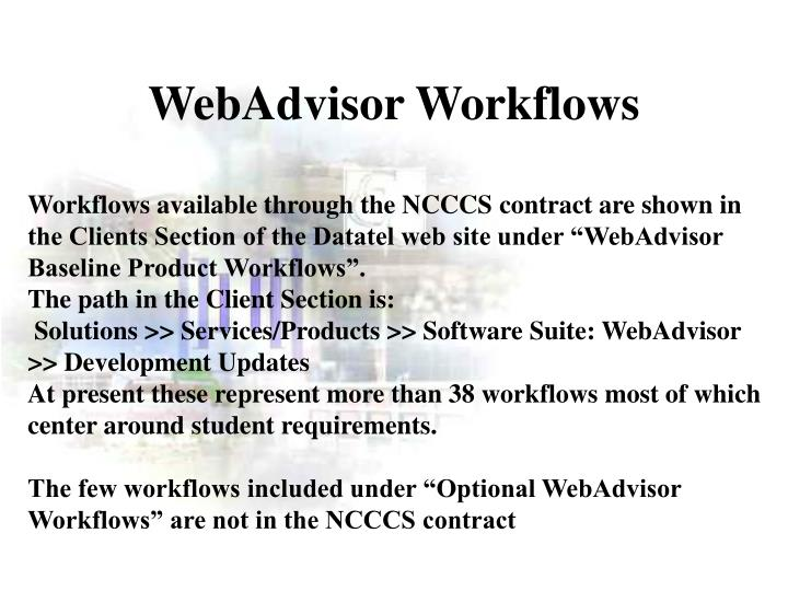 WebAdvisor Workflows