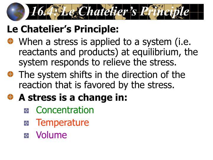 16.4: Le Chatelier's Principle