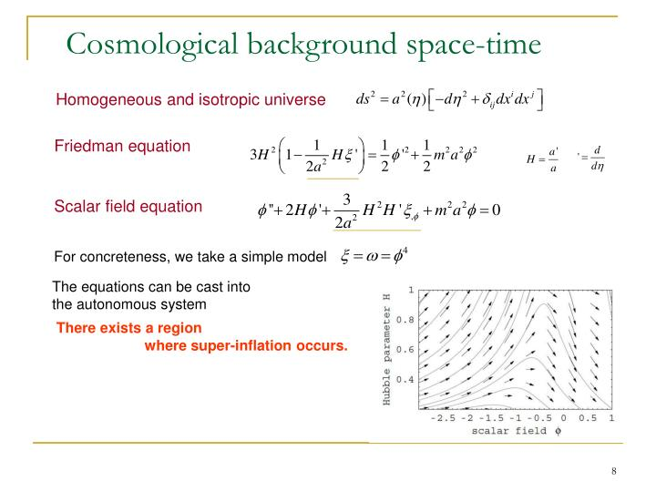 Cosmological background space-time
