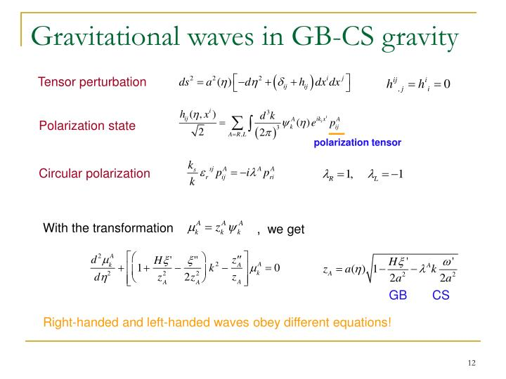 Gravitational waves in GB-CS gravity