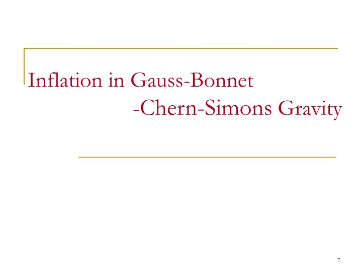 Inflation in Gauss-Bonnet