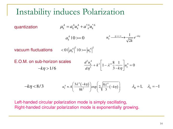 Instability induces Polarization