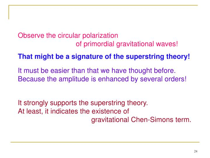 Observe the circular polarization