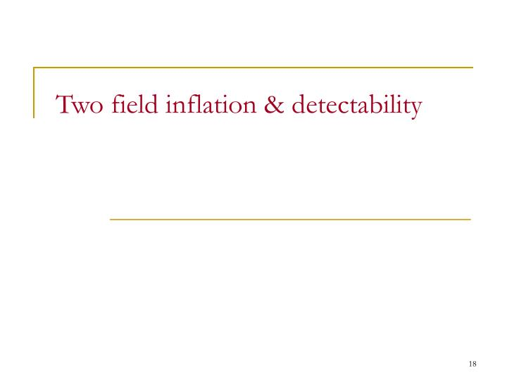 Two field inflation & detectability