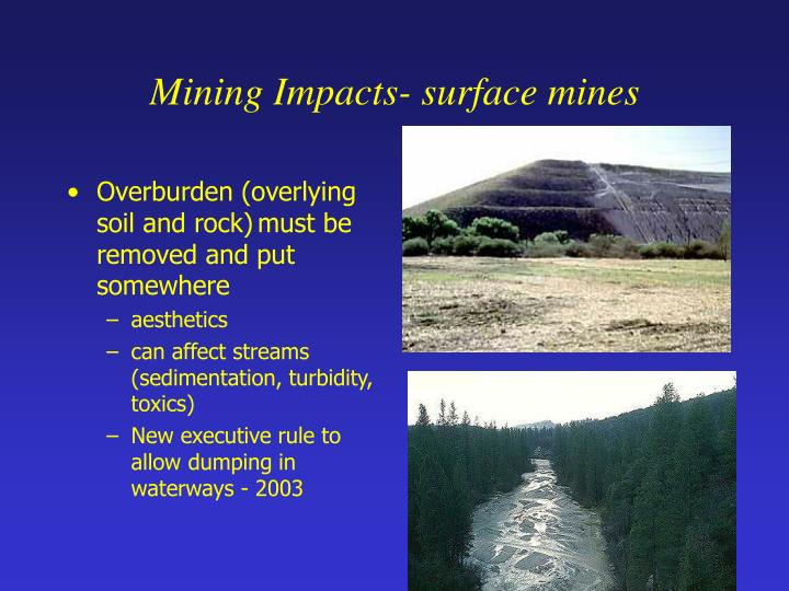 Mining Impacts- surface mines