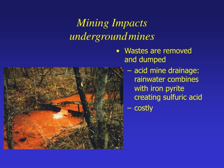 Mining Impacts