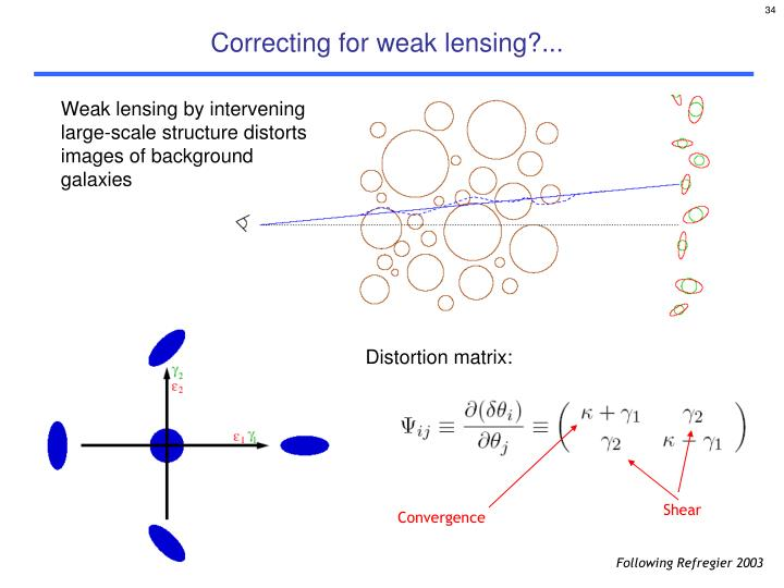 Correcting for weak lensing?...