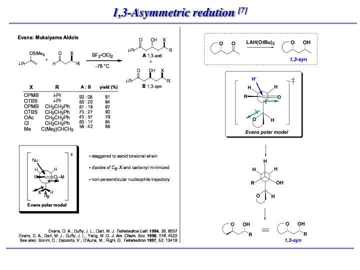 1,3-Asymmetric redution