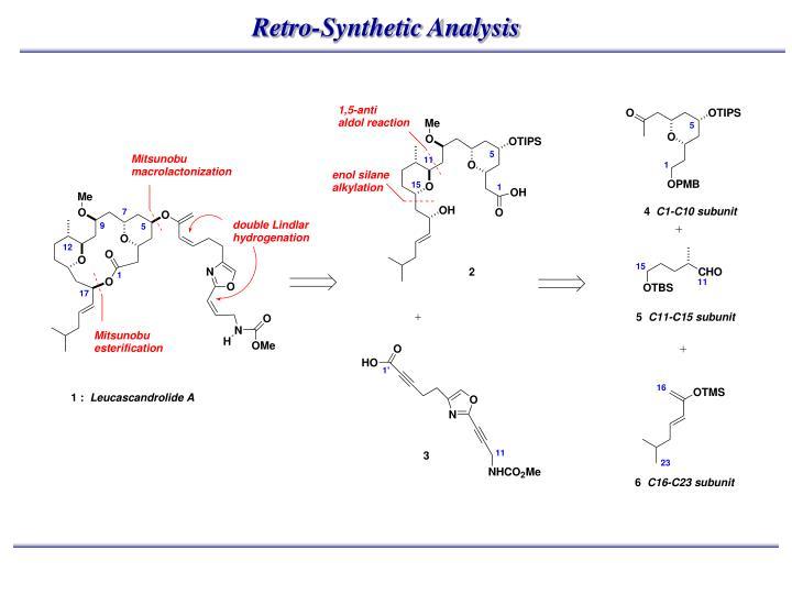 Retro-Synthetic Analysis