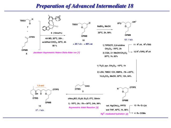 Preparation of Advanced Intermediate 18