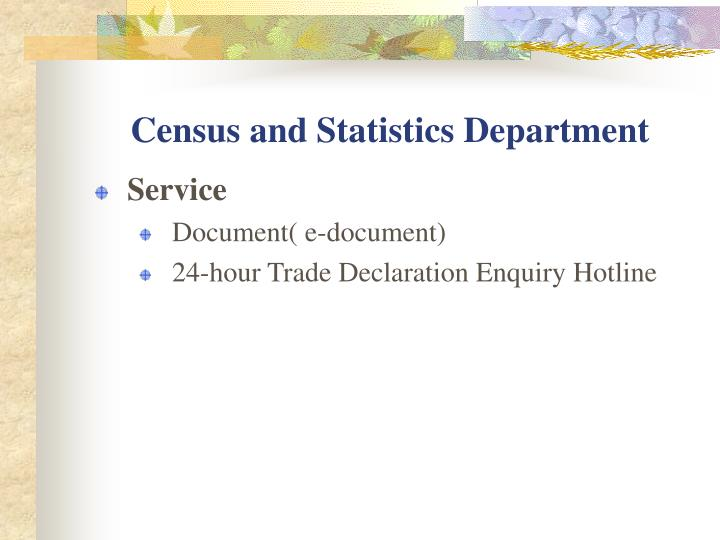 Census and Statistics Department