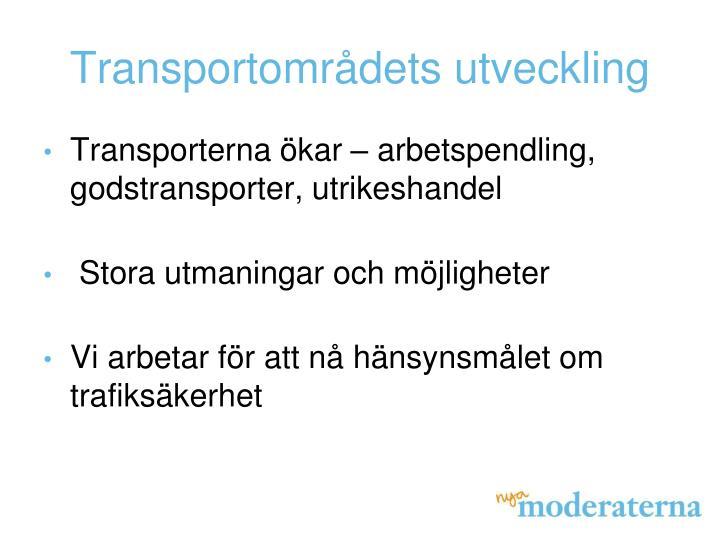 Transportområdets utveckling