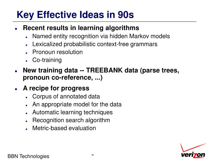 Key Effective Ideas in 90s